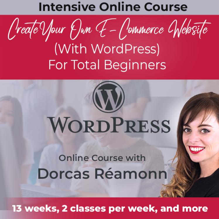 create your own e-commerce website with dorcas reamonn